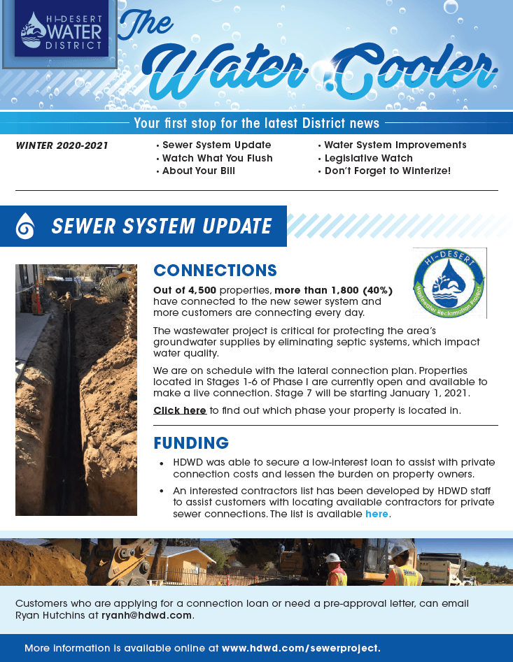 Cover of the Water Cooler Newsletter (PNG)