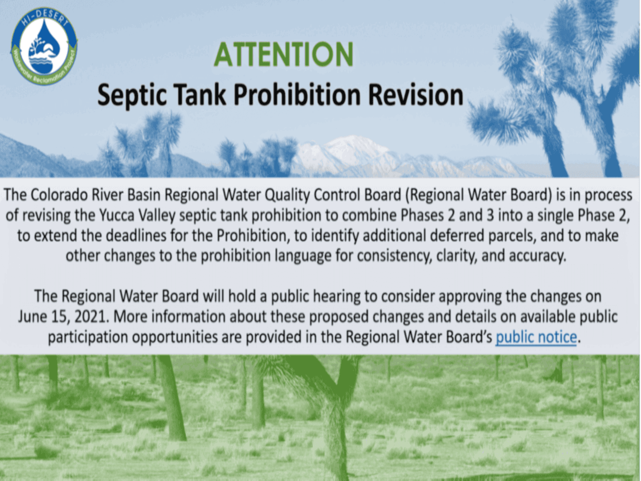 Septic Tank Provision Revision Information Slide (PNG)